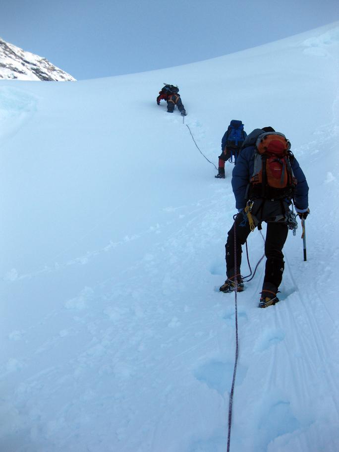 on the way up Island Peak