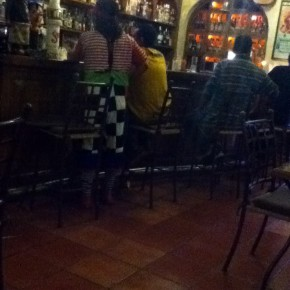 Clown at the bar