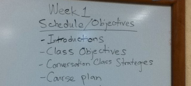 (More than a few) Thoughts on teaching my first English Conversation Class